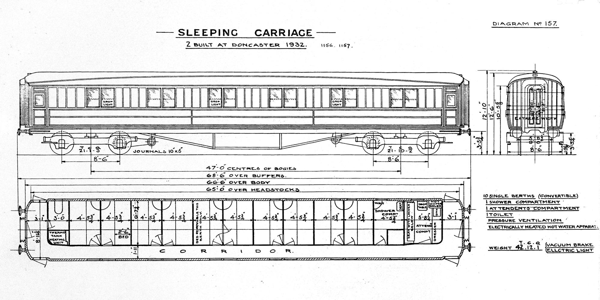 Lner 1st Sleeping Car 66 6 Quot Steve Banks